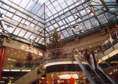 PORTAL GmbH - Richmod-shopping center Köln Germany Skylights (100m) and central pyramid